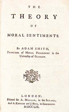 prva stran knjige Theory of Moral Sentiments