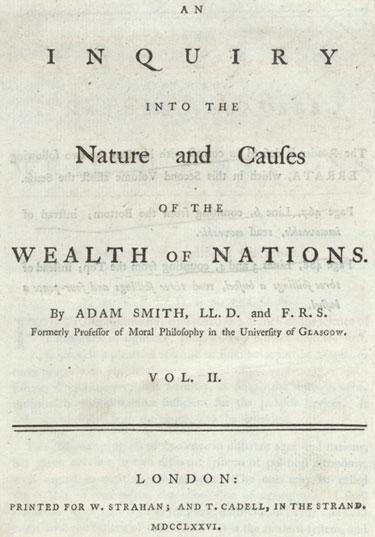 naslovnica Smithove knjige Bogastvo narodov